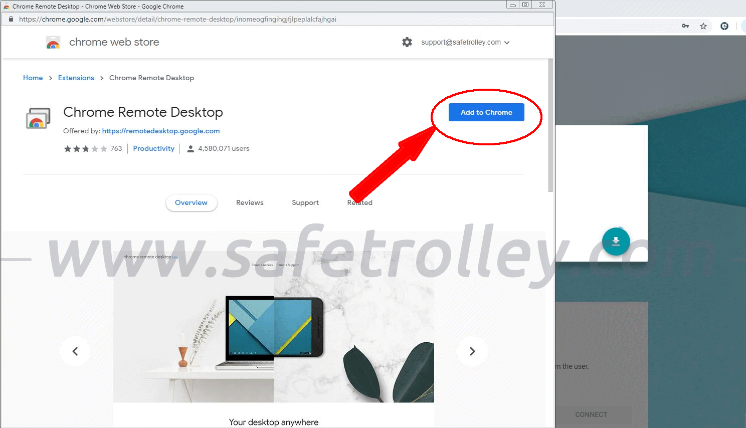 Get Support via Google Chrome Remote Desktop